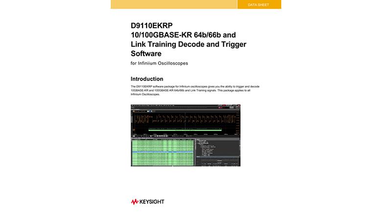 D9010EKRP 10G/100GBASE-KR 64b/66b and Link Training Decode/Trigger Software Data Sheet