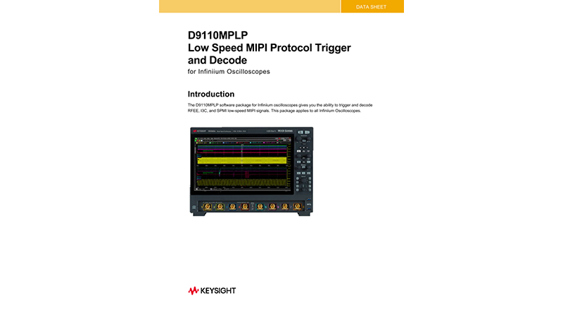 D9010MPLP Low Speed MIPI Protocol Decode/Trigger Software Data Sheet