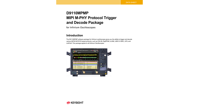 D9010MPMP MIPI M-PHY Protocol Decode/Trigger Software Data Sheet