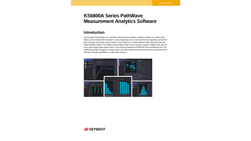 KS6800A Series PathWave Measurement Analytics Software