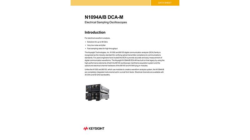 N1094A/B DCA-M Electrical Sampling Oscilloscopes