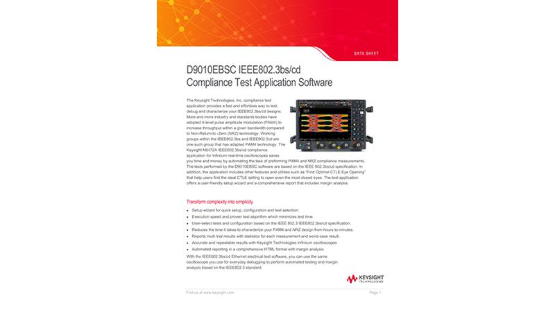 IEEE802.3bs/cd Compliance Test Application Software