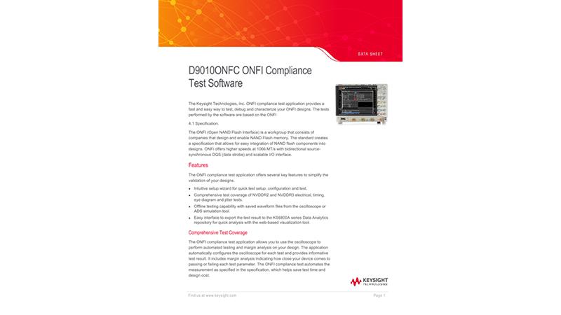 ONFI Compliance Test Software