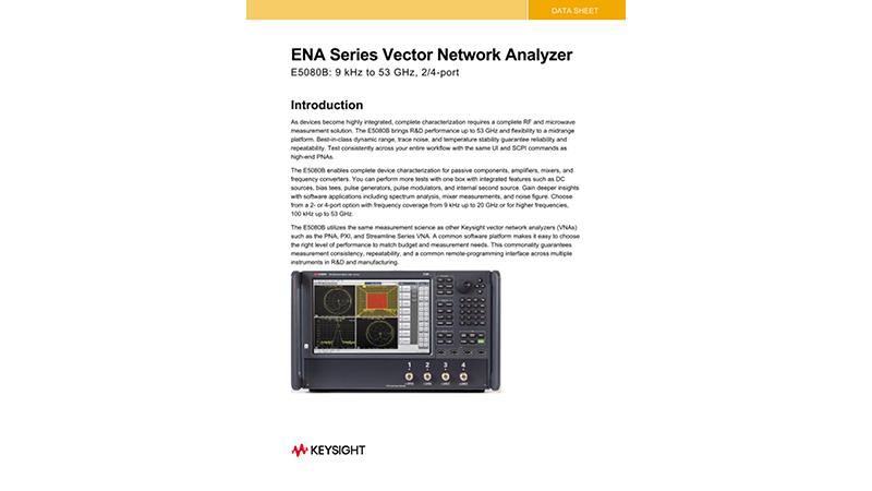 E5080B ENA Series Vector Network Analyzer