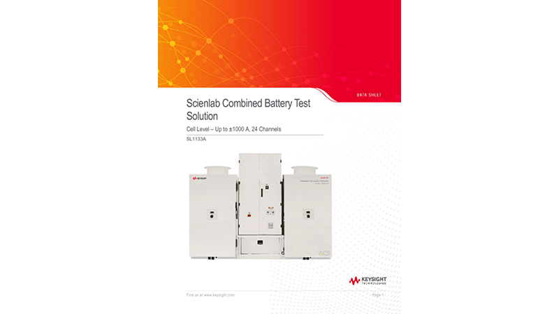 SL1133A Scienlab Combined Battery Test Solution – Cell Level – Up to ±1000 A, 24 Channels