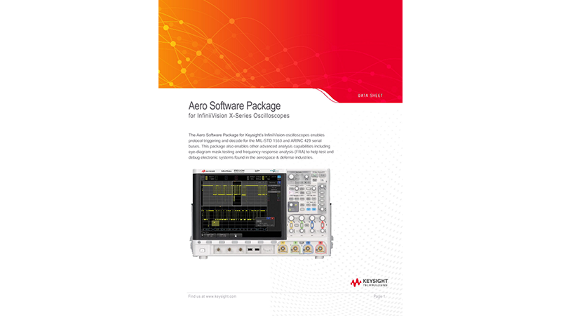 Aero Software Package for InfiniiVision X-Series Oscilloscopes