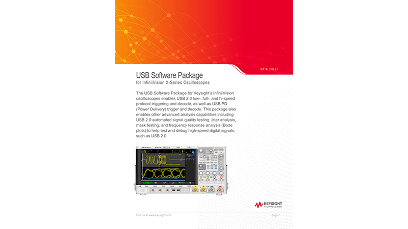 USB Software Package for InfiniiVision X-Series Oscilloscopes