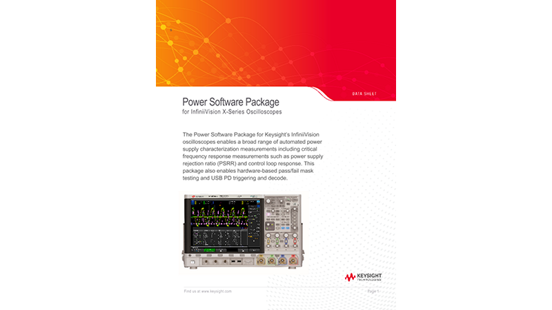 NEWPower Software Package for InfiniiVision X-Series Oscilloscopes