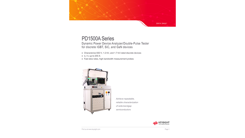 PD1500A Series Dynamic Power Device Analyzer/Double-Pulse Tester