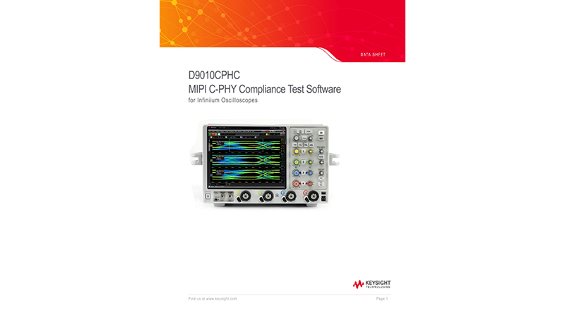 D9010CPHC MIPI C-PHY Compliance Test Software for Infiniium Oscilloscopes