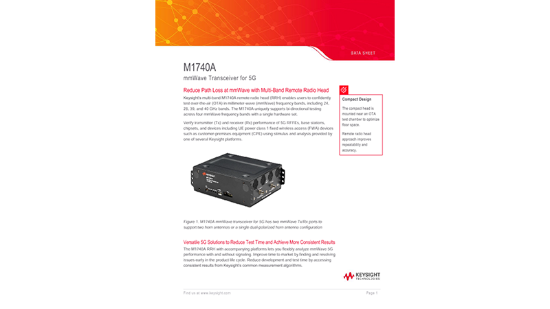 M1740A mmWave Transceiver for 5G
