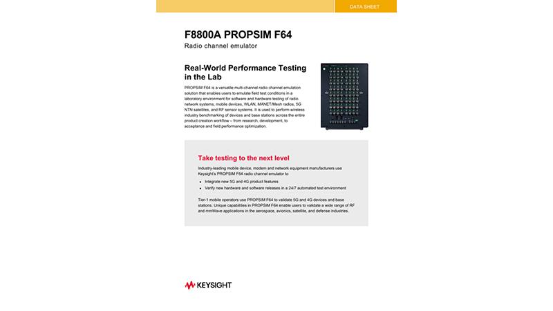 PROPSIM F64 Radio Channel Emulator F8800A