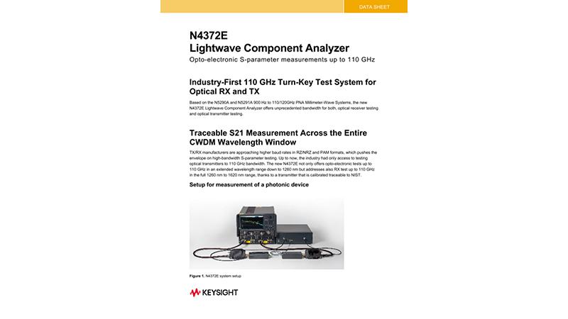 N4372E Lightwave Component Analyzer