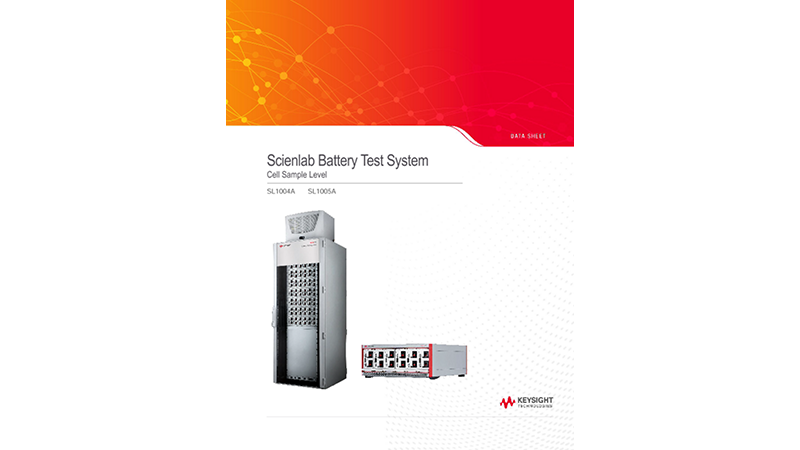 SL1004A/SL1005A Scienlab Battery Test System – Cell Sample Level