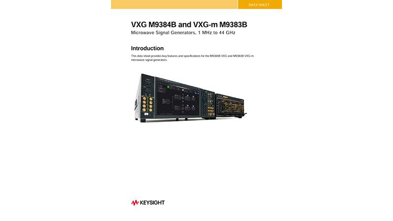 VXG M9384B and VXG-m M9383B