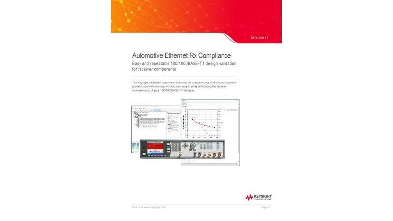 Automotive Ethernet 1G Rx Compliance