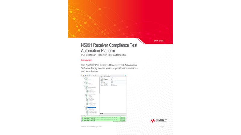N5991 Receiver Compliance Test Automation Platform for PCI Express®, SAS and CCIX