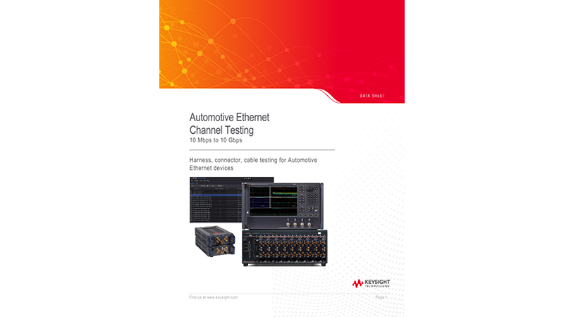 Automotive Ethernet Channel Testing
