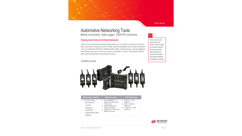 Automotive Networking Tools
