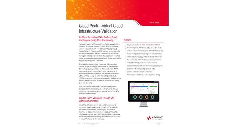 Cloud Peak—Virtual Cloud Infrastructure Validation