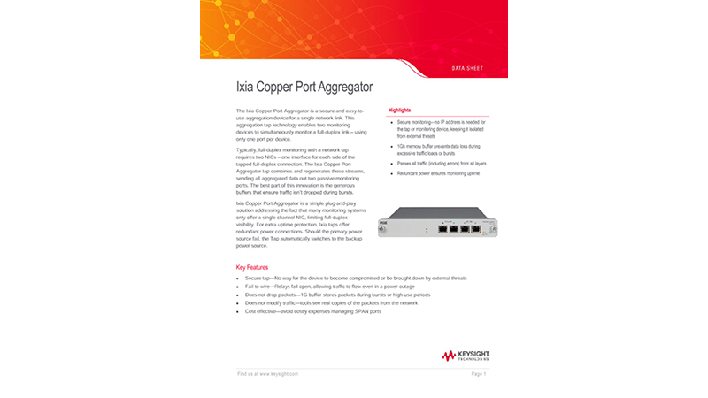 Ixia Copper Port Aggregator