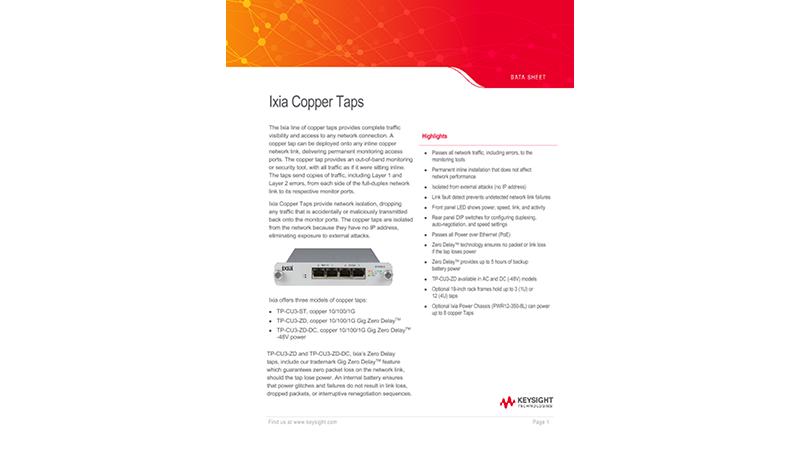 Ixia Copper Taps