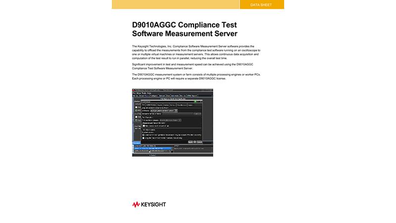 D9010AGGC Compliance Test Software Measurement Server