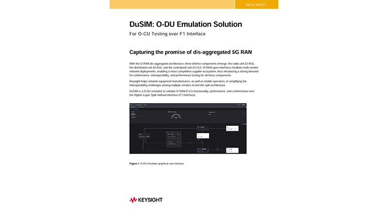 DuSIM: O-DU Emulation Solution for O-CU Testing over F1 Interface