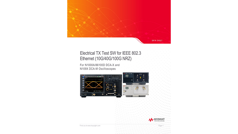 Electrical TX Test SW for IEEE 802.3 Ethernet (10G/40G/100G NRZ)