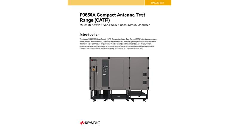 F9650A Compact Antenna Test Range