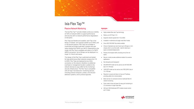Ixia Flex Tap™