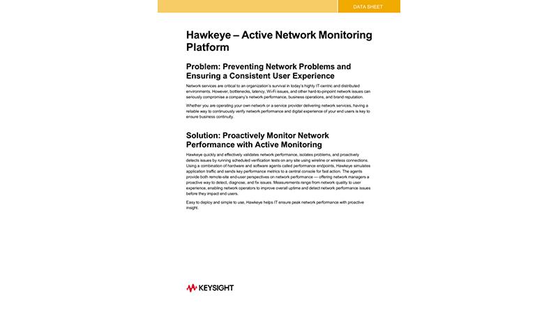 Hawkeye – Active Network Monitoring Platform