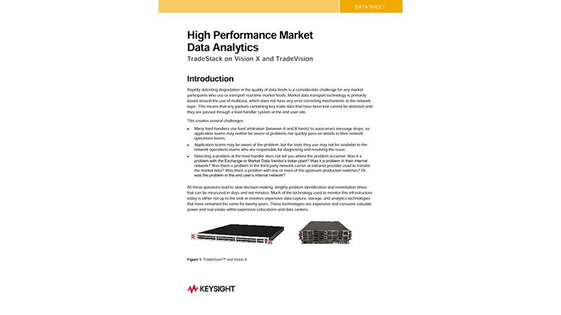 TradeVision High Performance Market Data Analytics