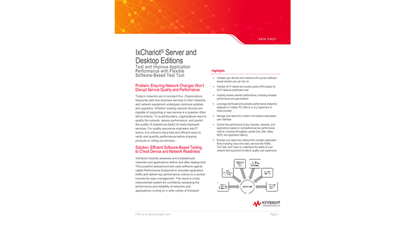 IxChariot® Server and Desktop Editions