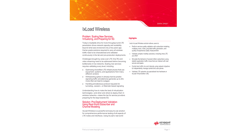 IxLoad Wireless