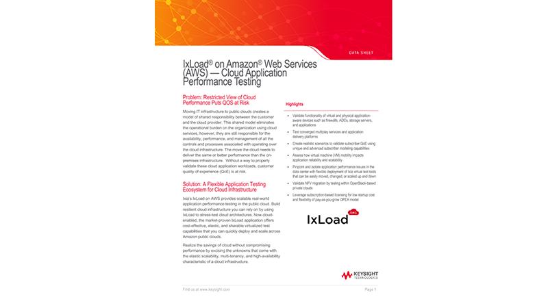 IxLoad® on Amazon Web Services (AWS)