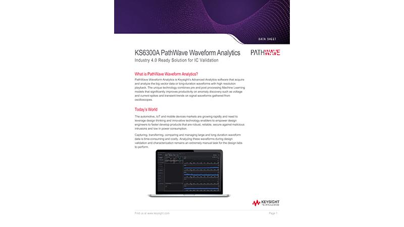 KS6300A PathWave Waveform Analytics
