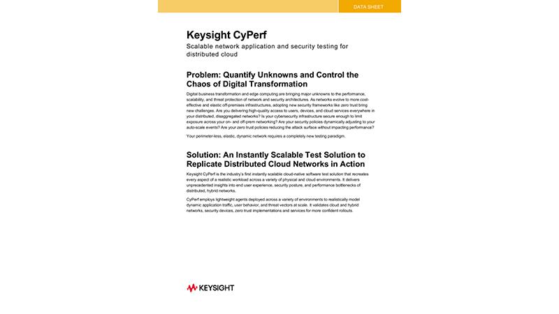 Keysight CyPerf