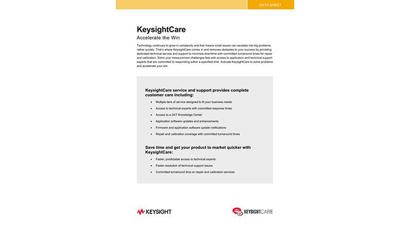 KeysightCare Accelerate the Win