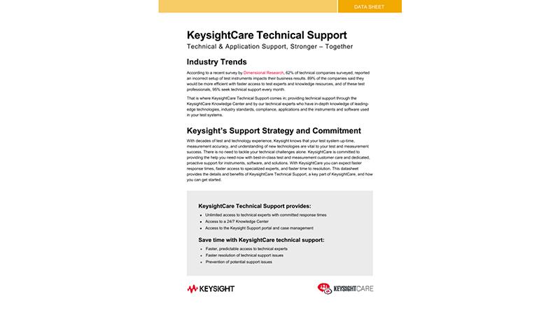 KeysightCare Technical Support