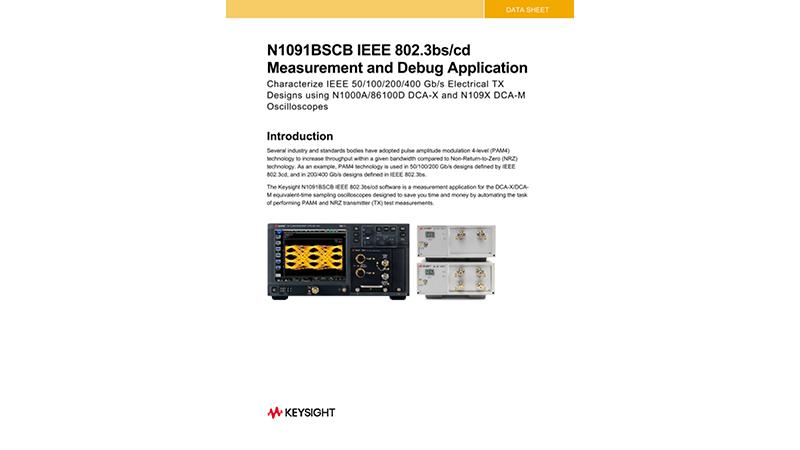 N1091BSCB IEEE 802.3bs/cd Measurement and Debug Application