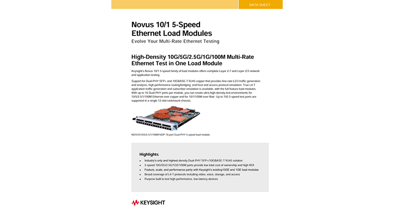 NOVUS™ 10/1 5-Speed Ethernet Load Modules