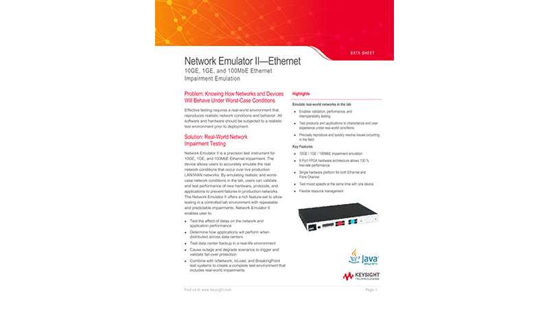 Network Emulator II™ – Ethernet