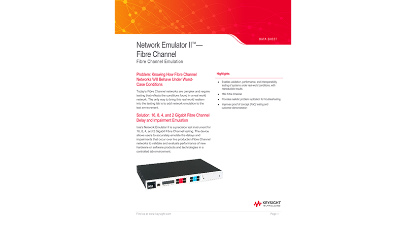 Network Emulator II™ - Fibre Channel
