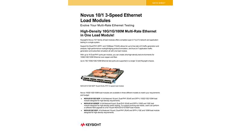 Novus™ 10/1 3-Speed Ethernet Load Modules