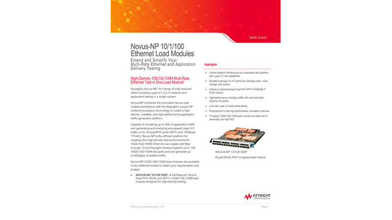 Novus™-NP 10/1/100 Ethernet Load Modules
