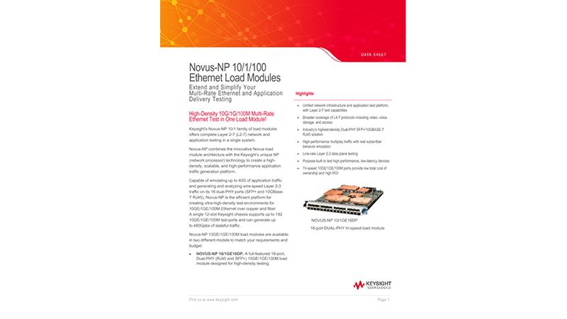 Novus™-NP 10/1/100 Ethernet Load Modules
