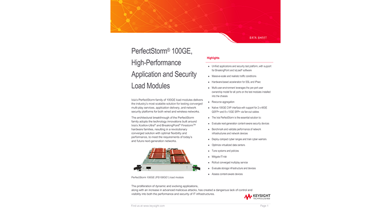 PerfectStorm® 100GE, High-Performance Application and Security Load Modules