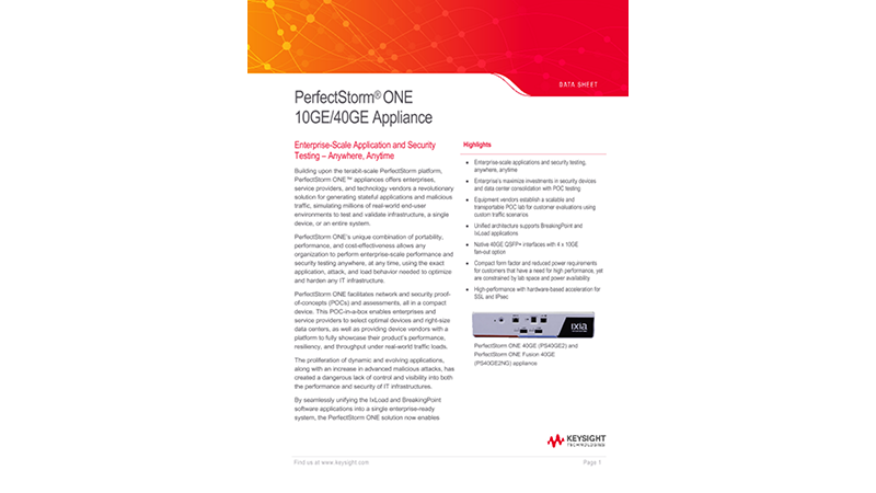 PerfectStorm® ONE 10GE/40GE Appliance