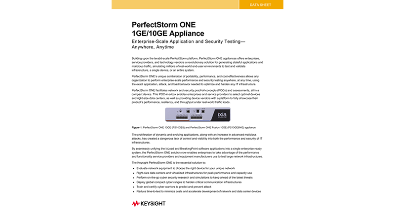 PerfectStorm® ONE 1GE/10GE Appliance